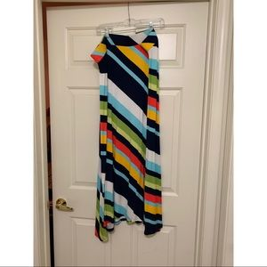 Lane Bryant Maxi Skirt Multi Color